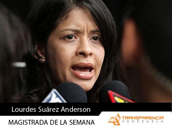 Magistrado de la semana - Lourdes Suárez Anderson