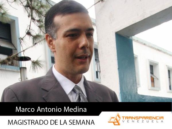 Magistrado de la semana - Marco Antonio Medina